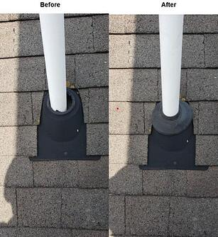 Penetrations inspected during a roof inspection