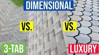 Video: Comparing 3-tab vs. Architectural vs. Luxury Asphalt Shingles