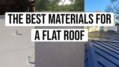 Video: The Best Materials for a Flat Roof (Types, Lifespan, & More)