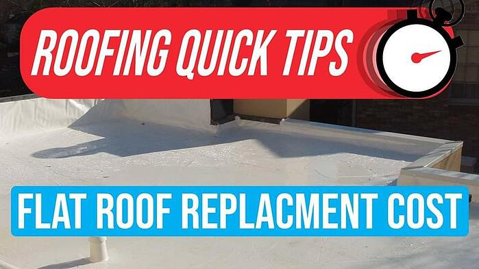 Video: How Much Does a Flat Roof Replacement Cost? (Membrane & Metal)