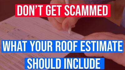 Video: What Should Your Roof Replacement Estimate Include?