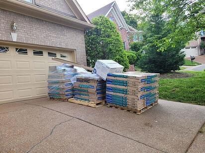 roofing material delivered