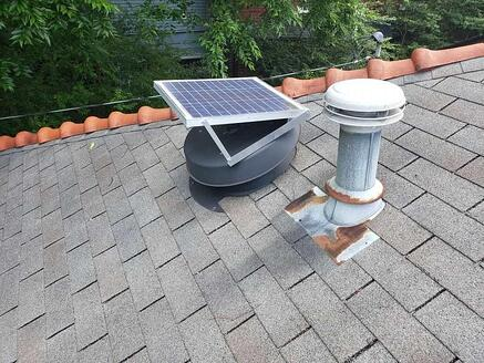 solar powered active roof vent