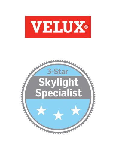 velux 3 star certified skylight specialist